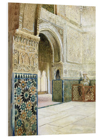 Foam board print  Interior of the Alhambra, Granada - French School