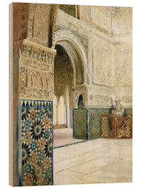 Wood print  Interior of the Alhambra, Granada - French School