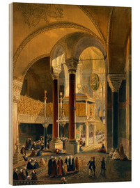 Wood print  Haghia Sophia, Imperial Gallery and Box - Gaspard Fossati