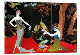 Acrylic print  Fashion for Lacquer, engraved by Henri Reidel, 1920 - Georges Barbier