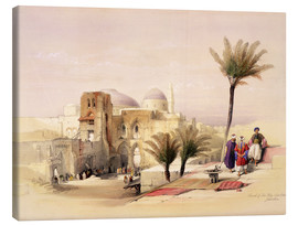 Canvas print  Church of the Holy Sepulchre in Jerusalem - David Roberts