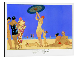 Aluminium print  At the Lido, engraved by Henri Reidel, 1920 - Georges Barbier