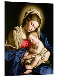 Foam board print  Madonna and child - Il Sassoferrato