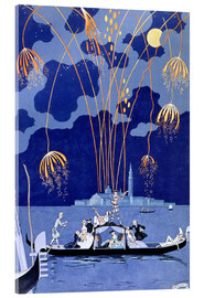 Acrylic print  Fireworks in Venice, Fetes Galantes - Georges Barbier