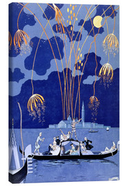 Canvas print  Fireworks in Venice, Fetes Galantes - Georges Barbier