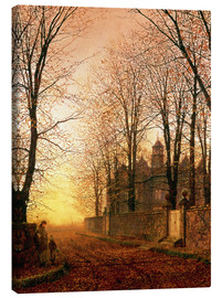 Canvas print  In the Golden Olden Time, c.1870 - John Atkinson Grimshaw