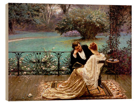 Wood print  The pride of Dijon - William John Hennessy