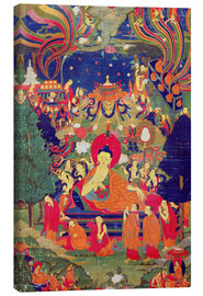 Canvas print  Thangka of Parinirvana of the Buddha - Tibetan School