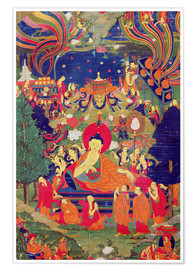 Premium poster Thangka of Parinirvana of the Buddha