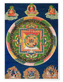 Premium poster Thangka of the mandala of Chakrasamvara