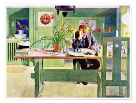 Poster  The Study Room - Carl Larsson