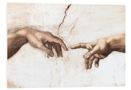 Foam board print  The Creation of Adam (detail of hands) - Michelangelo