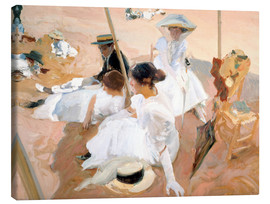 Canvas print  Under the Parasol, Zarauz - Joaquín Sorolla y Bastida