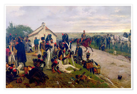 Premium poster  On the morning of the battle of Waterloo - Ernest Crofts