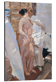 Aluminium print  After the bath - Joaquín Sorolla y Bastida