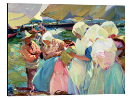 Aluminium print  Fisherwomen on the Beach - Joaquín Sorolla y Bastida