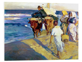 Foam board print  Towing in the boat, Valencia - Joaquín Sorolla y Bastida