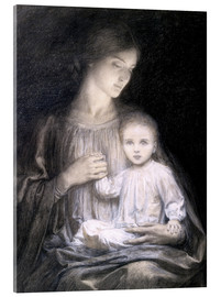 Acrylic print  Mother and Child, c.1920 - Sir Frank Dicksee