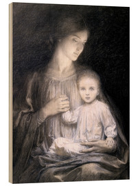 Wood print  Mother and Child, c.1920 - Sir Frank Dicksee