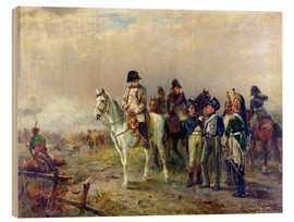 Wood print  The Turning Point at Waterloo - Robert Alexander Hillingford