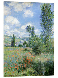 Acrylic print  Way through the poppies - Claude Monet