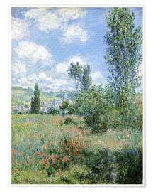 Premium poster  Way through the poppies - Claude Monet