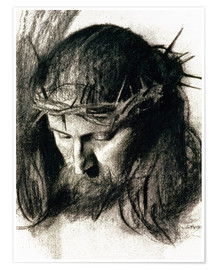 Premium poster  Head of Christ - Franz von Stuck