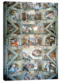 Canvas print  Sistine Chapel ceiling and lunettes - Michelangelo