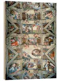 Wood  Sistine Chapel ceiling and lunettes - Michelangelo