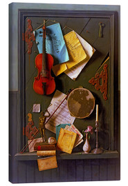 Canvas  The Old Cupboard Door - William Michael Harnett