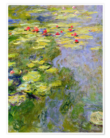 Premium poster  The lily pond - Claude Monet