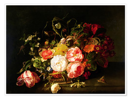 Premium poster  Flowers and Insects - Rachel Ruysch