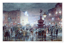 Poster  Piccadilly Circus at Night, 1911 - Thomas Prytherch