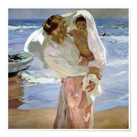 Premium poster  Just out of the sea - Joaquín Sorolla y Bastida