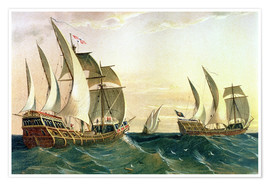 Premium poster The 'Pinta', the 'Nina' and the 'Santa Maria' sail to the West Indies in 1492