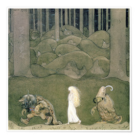 Premium poster  The Princess and the Trolls, 1913 - John Bauer