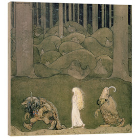 Wood print  The Princess and the Trolls, 1913 - John Bauer