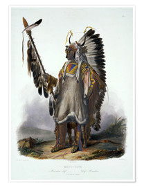 Premium poster  Mato-Tope, chief of the Mandan - Karl Bodmer