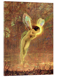 Acrylic print  Iris, detail of the fairy - John Atkinson Grimshaw