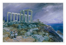 Premium poster The Temple of Poseidon, Sunium, 1877