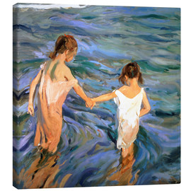 Canvas print  Children in the Sea - Joaquin Sorolla y Bastida