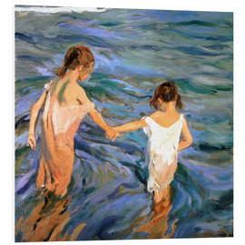 Foam board print  Children in the Sea - Joaquin Sorolla y Bastida