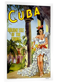 Acrylic print  Cuba - holiday island - Travel Collection
