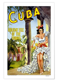 Premium poster  Cuba - holiday island - Travel Collection