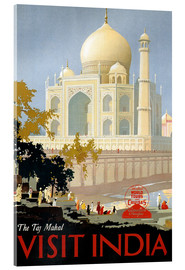 Acrylic print  Indien - Taj Mahal - Travel Collection