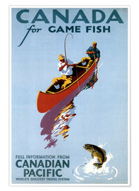 Premium poster  Canada for Game Fish - Travel Collection