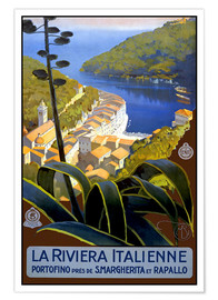 Premium poster  La Riviera Italienne - Travel Collection