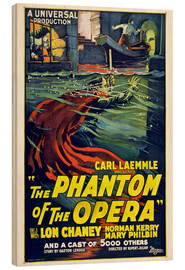 Wood print  The Phantom of the Opera - Entertainment Collection