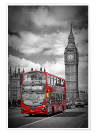 Premium poster LONDON Red Bus and Big Ben