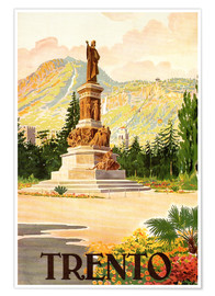 Premium poster Trent, South Tyrol in Italy